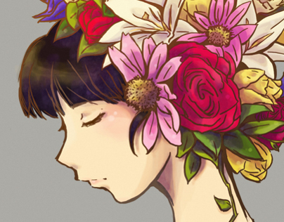 Flowers on your hair
