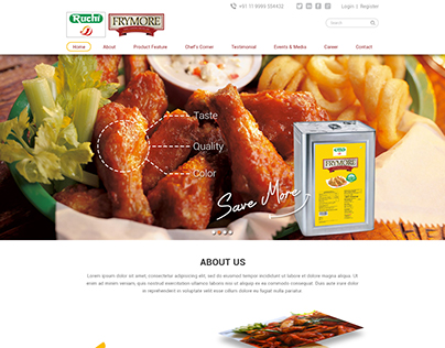 Website design for Ruchi Soya Oil