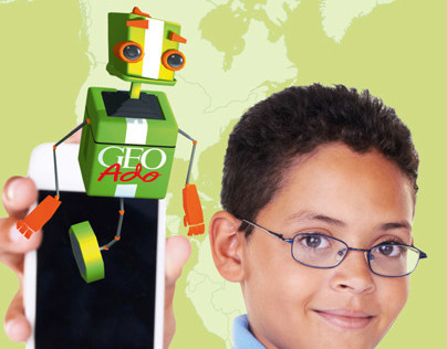 Géo Ado, réalité augmentée : mascotte