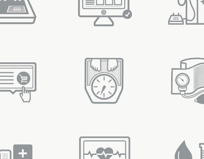Icons/ Pictograms for Health Kiosk