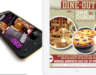 Social Media campaign for Dine-in-Dublin food festival
