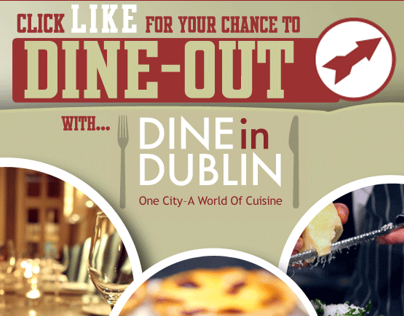 Dine-in-Dublin Social Media Campaign graphics