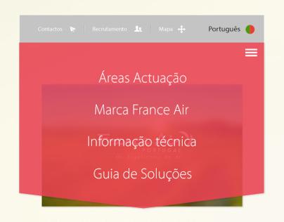 FranceAir Home Page Design