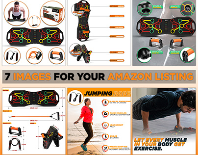Push Up Board Set listing images design | for amazon