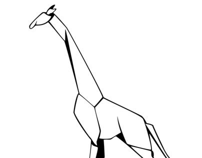 Paper Giraffe Icon