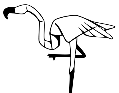 Paper Flamingo Icon