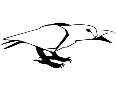 Paper Raven Icon