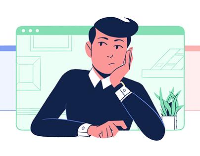 illustration for Fiverr's website.