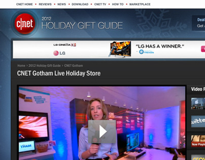 CNET.com Holiday Gift Guide Feature Design