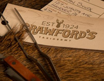Crawford's Taxidermy Brand Identity