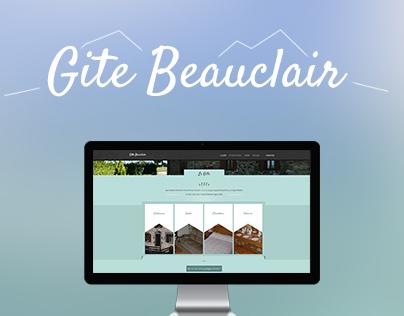 Design / Integration of the Gite Beauclair website