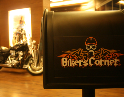 Bikers corner photo shooting