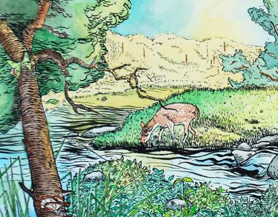 """""""Arcadia"""" Mural for Missouri Botanical Gardens, 2014-15"""