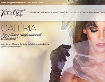 Xtreme Lashes webdesign