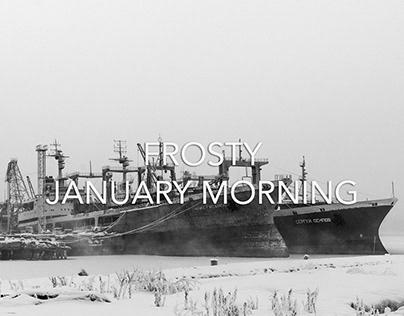 Frosty January morning in Murmansk