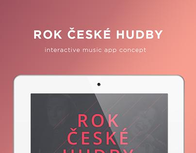 Interactive music app concept