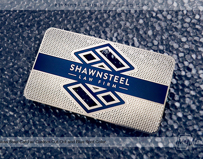Stainless Steel Business Card with Custom Cutouts