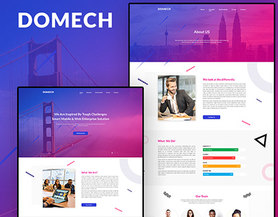 DOMECH - Agency One-page Website Design.