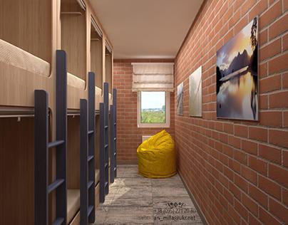 Бюджетный хостел_Concept of economy hostel