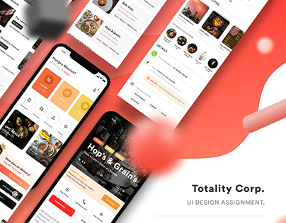 Design Assignment Given By Totality Corp.   Zomato  
