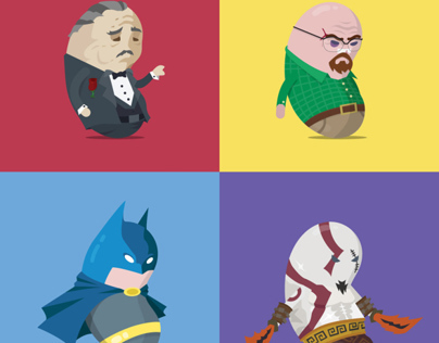 Fellow Beans - Fun Illustrations of Famous characters