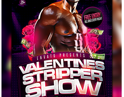 Stripper Show Party Flyer