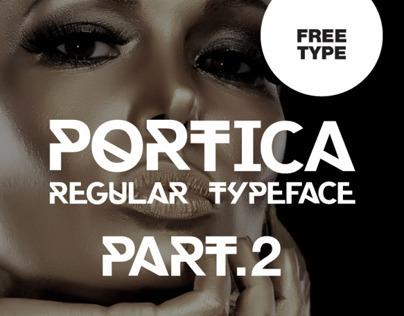 Portica Regular Typeface Part.2  | Free Font