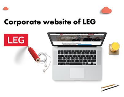 Сorporate website of LEG