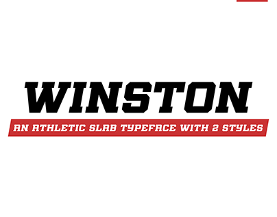 Winston (An Athletic Slab Serif Font)