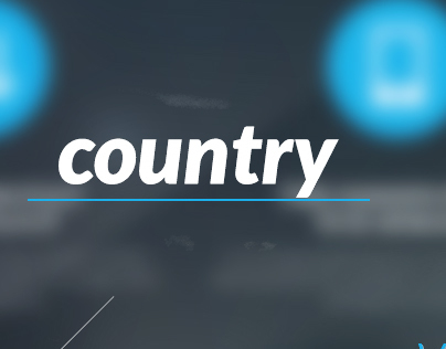 Country UI - One Page - 3 Colors
