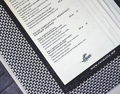 Rozmarin Café   Menu Design