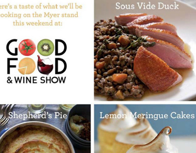 Photography and food styling for Good Food Show flyer