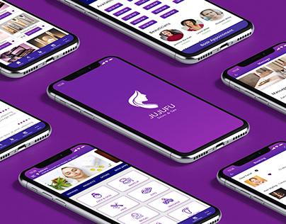 JUJUFU SALON & SPA | Mobile App UI/UX Kit