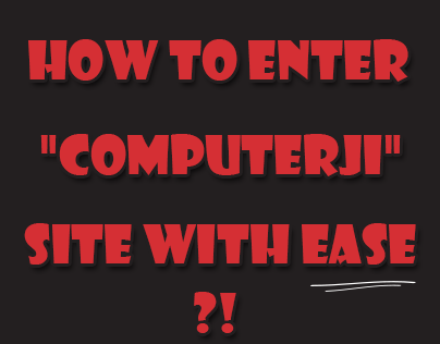 """How to enter """"Computerji"""" site to syrians followers ?!"""