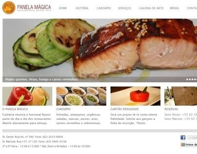 Posicionamento On line Panela Mágica Restaurante Site