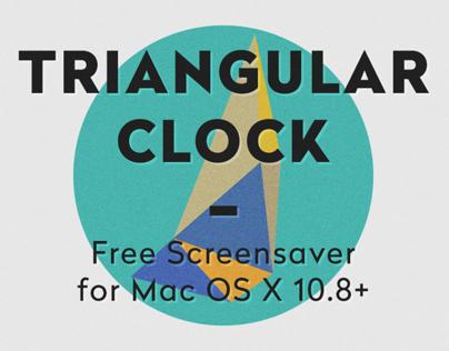 Triangular Clock - Free Screensaver