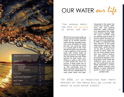 Water Conservation Book: Research and Design Project