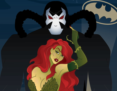 Poison Ivy and Bane Poster