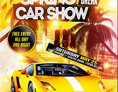 Spring Break Car Show Flyer