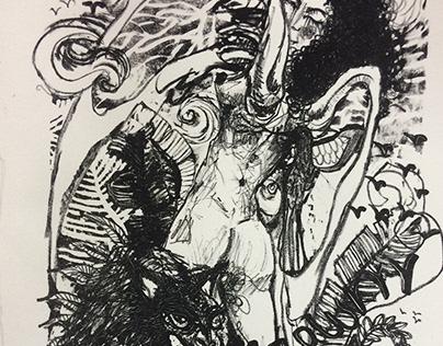 Lithograph 15: Gata Malvada