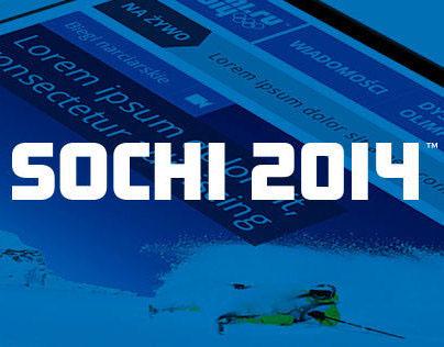 Sochi 2014 - web site layout for Polskie Radio