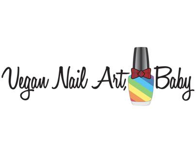 Vegan Nail Art, Baby Blog Logo