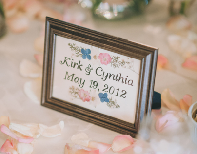 Table Numbers & Escort Cards for Wedding Reception