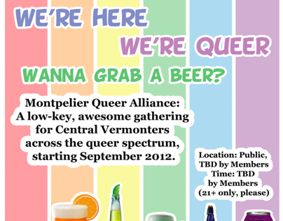 Montpelier Queer Alliance Posters
