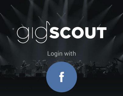 gigscout iOS App UI