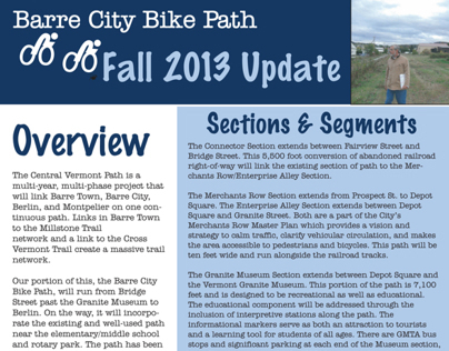Barre Bike Path Committee Newsletter