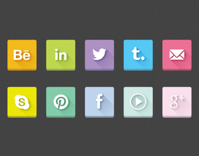 SOCIAL ICONS - LONG SHADOW