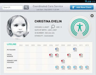 Coordinate Care Service Android App UI design