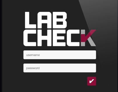 Lab Check App Design