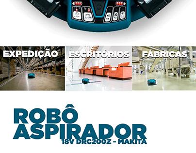 Mini Folder Robô Aspirador Makita para Vivara